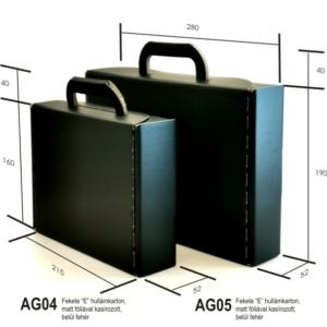 Fekete bőrönd, nagy